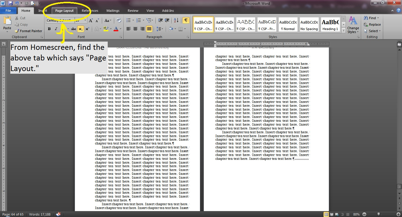 How do I add more Chapters in the CreateSpace Templates with Word ...